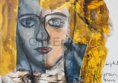 Blue and Yellow Lady II